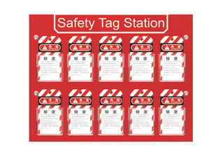 Steel Plate And Plastic PC Safety Tag Station