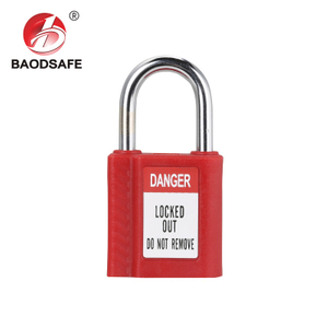 One-PIece Steel Shackle Safety Padlock