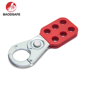 Red Multiple Steel Safety Lockout Hasp