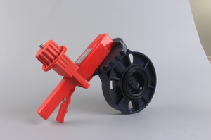Universal Red Small Butterfly Valve Lockout
