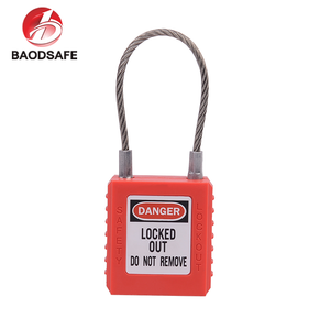 Cable Steel Shackle Safety Padlock 56mm
